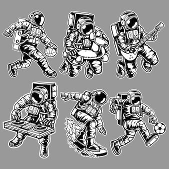 Personaje de astronauta