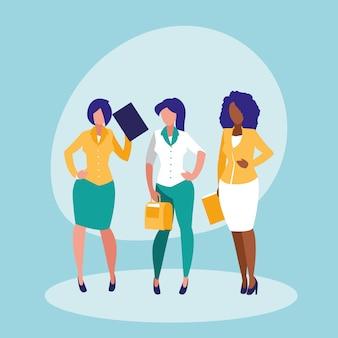 Personaje de avatar elegante de mujeres empresarias