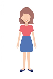 Personaje de avatar de mujer joven