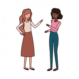 Personaje de avatar de mujeres jóvenes