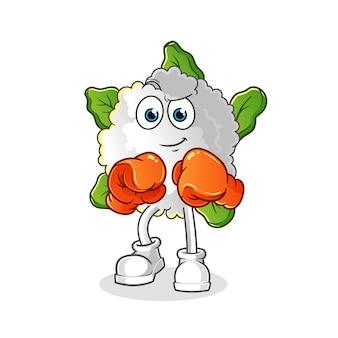 Personaje de boxeador de coliflor