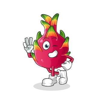 Personaje de chili joven. mascota de dibujos animados