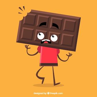 Personaje de chocolate Vector Premium