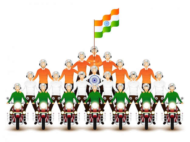 Personaje de los ciclistas que realizan acrobacias con motivo de in.