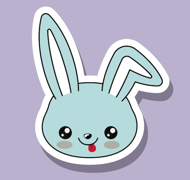 Personaje de conejo estilo kawaii