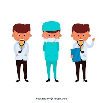 Personaje de doctores en diferentes situaciones