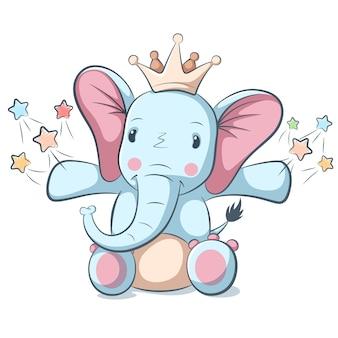 Personaje de elefante lindo y divertido