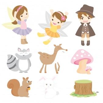 Personaje de fairy forest