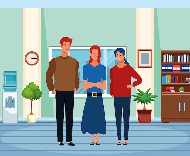 Personaje de dibujos animados de avatar de grupo de personas