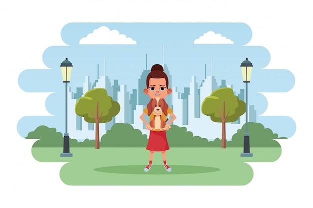 Personaje de dibujos animados de avatar de niño pequeño