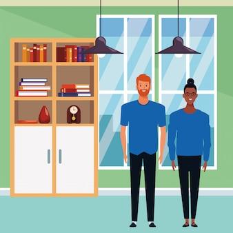Personaje de dibujos animados de avatar de pareja