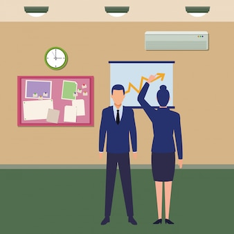 Personaje de dibujos animados de avatares de gente de negocios