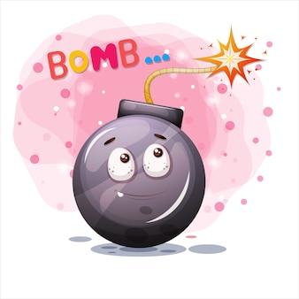 Personaje de dibujos animados de bomba.