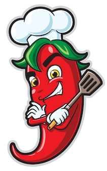Personaje de dibujos animados de chef de chile