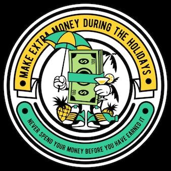 Personaje de dibujos animados de dinero