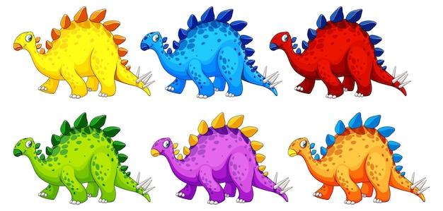 Un personaje de dibujos animados de dinosaurio estegosaurio