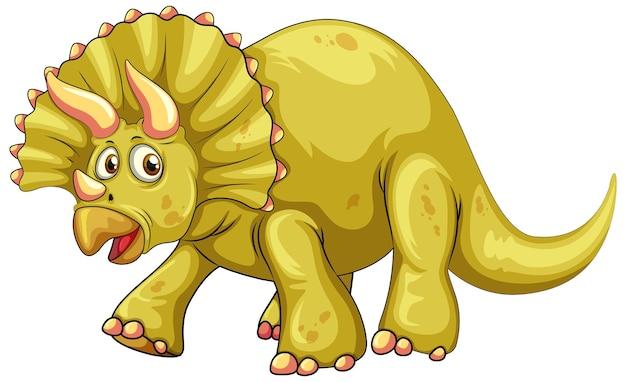 Un personaje de dibujos animados de dinosaurio triceratops