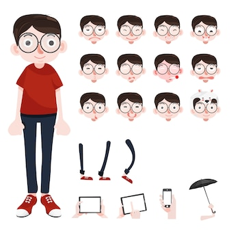 Personaje de dibujos animados divertido