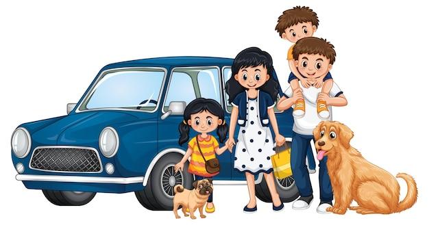 Personaje de dibujos animados feliz miembro de la familia