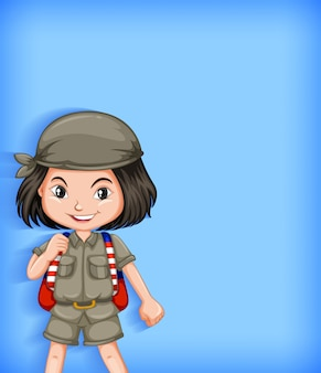 Personaje de dibujos animados de girl scouts