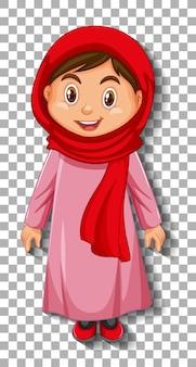 Personaje de dibujos animados hermosa dama árabe