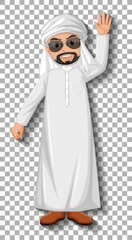 Personaje de dibujos animados de hombre árabe