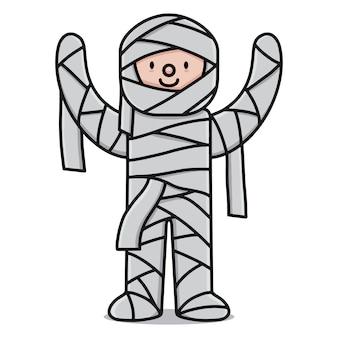 Personaje de dibujos animados lindo momia