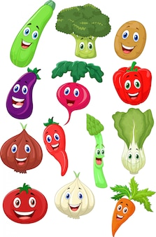 Personaje de dibujos animados lindo vegetal