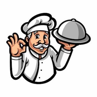 Personaje de dibujos animados de la mascota del chef