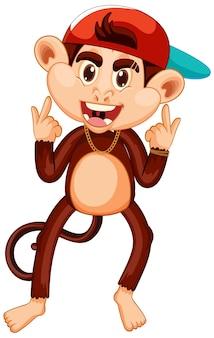 Personaje de dibujos animados de mono botín
