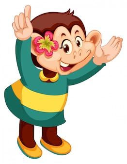 Un personaje de dibujos animados mono