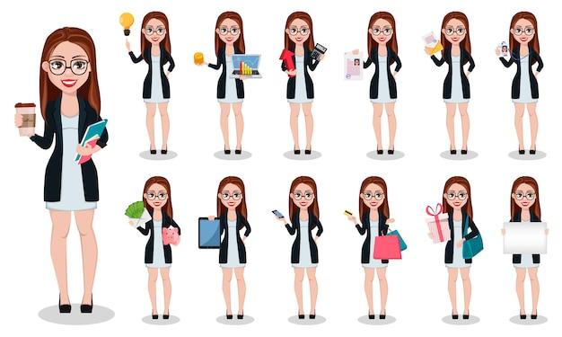 Personaje de dibujos animados de mujer de negocios