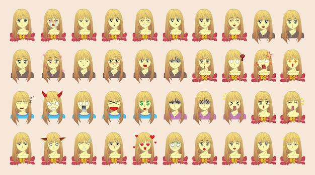 Personaje de dibujos animados de mujeres hermosas