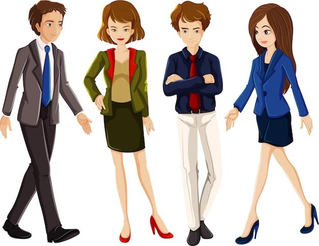 Personaje de dibujos animados de oficinista