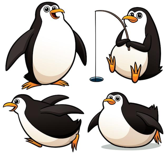 Personaje de dibujos animados pingüino