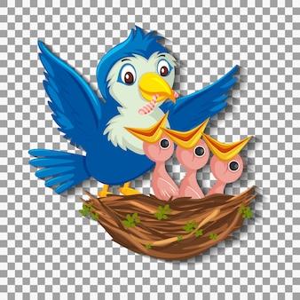 Personaje de dibujos animados de pollitos de aves