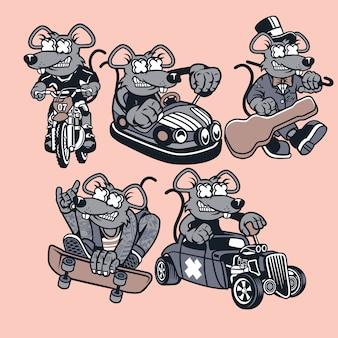 Personaje de dibujos animados de rata