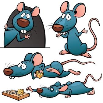 Personaje de dibujos animados rata
