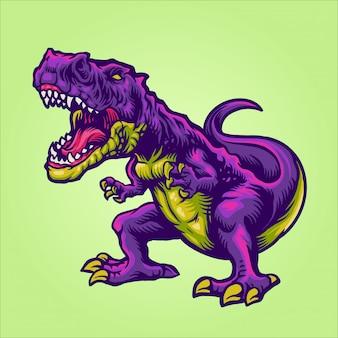 Personaje de dibujos animados de t rex