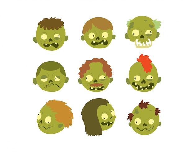Personaje de dibujos animados zombie