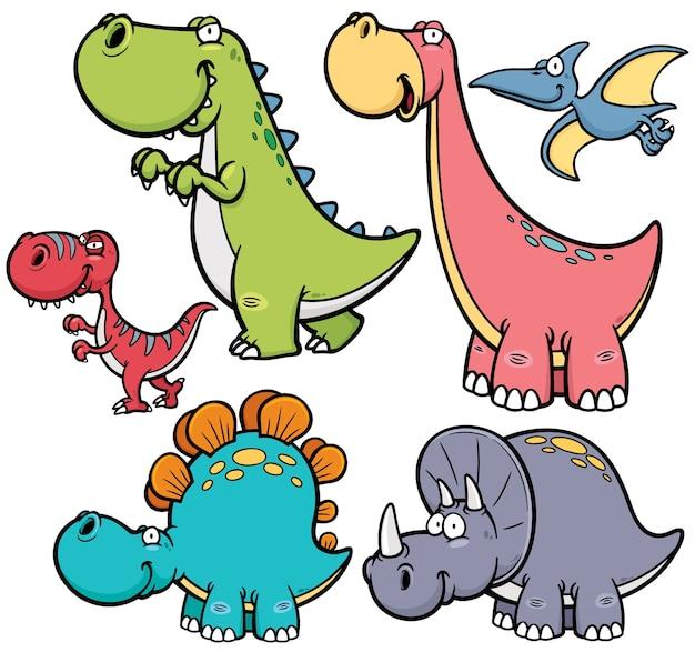 Personaje de dinosaurio de dibujos animados