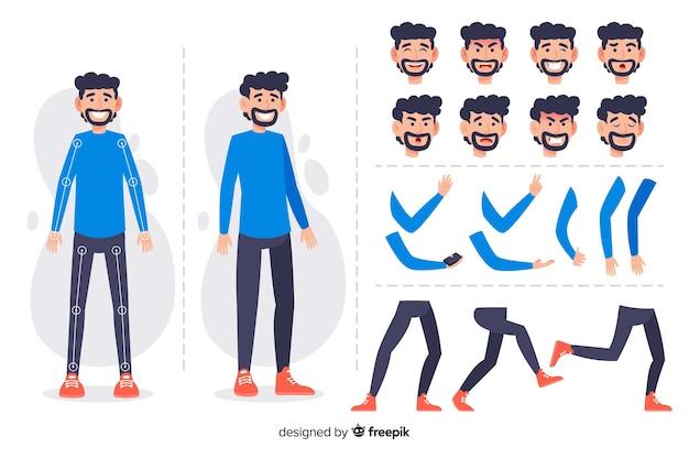 Personaje para diseño de movimient