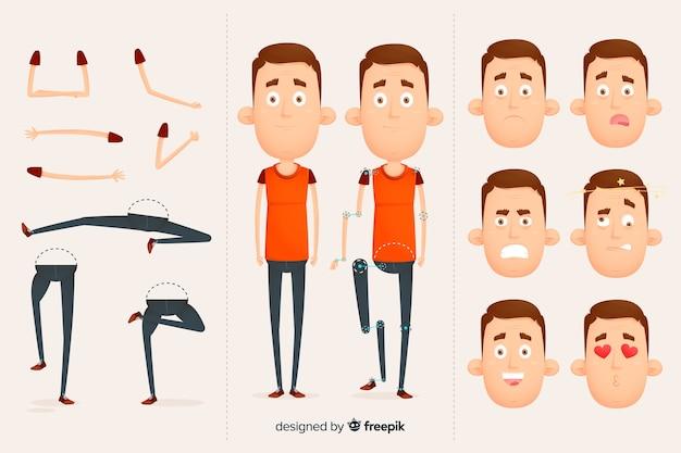 Personaje para diseño de movimiento