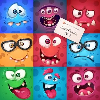 Personaje divertido lindo monstruo