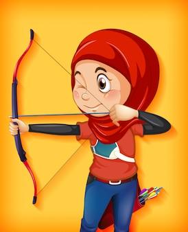 Personaje femenino arquero