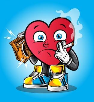 Personaje funky del corazon