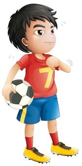 Un personaje de futbolista