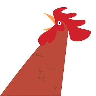 Personaje de gallo de dibujos animados