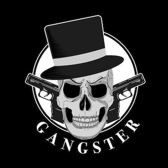 Personaje de gángster retro