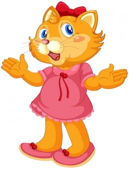 Un personaje de gato de dibujos animados